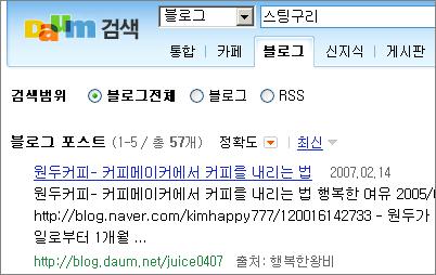 daum_blog_search_result_stingguri_20070226.png